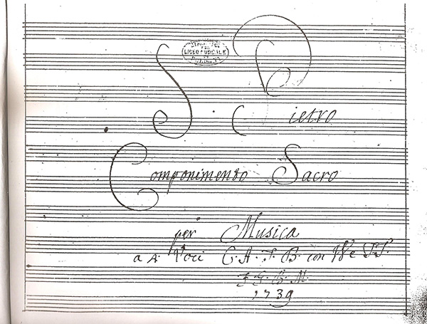 Oratorio by G. B. Martini